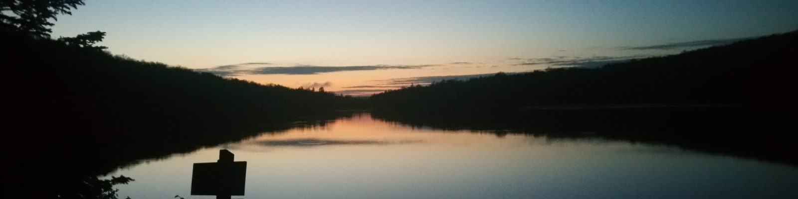 Stratton Pond at sunset